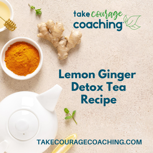 Lemon Ginger Tea in tea pot