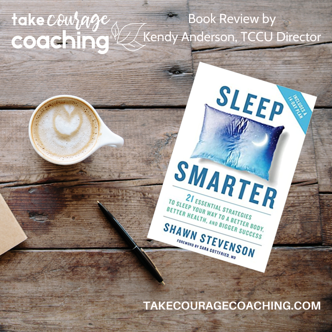 Image of the Sleep Smarter Book Cover and TCC URL